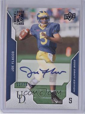 2008 Upper Deck Draft Edition Blue Exclusives Autograph [Autographed] #50 - Joe Flacco /75