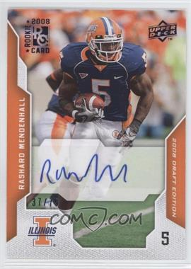 2008 Upper Deck Draft Edition Blue Exclusives Autograph [Autographed] #84 - Rashard Mendenhall /75