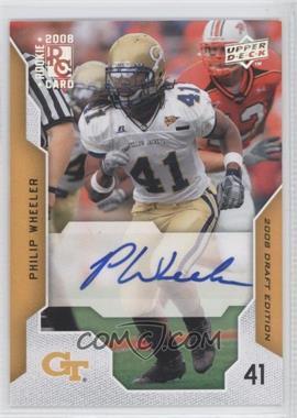 2008 Upper Deck Draft Edition Exclusives Autograph [Autographed] #82 - Philip Wheeler