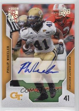 2008 Upper Deck Draft Edition Exclusives Autograph [Autographed] #82 - Philip Wheeler