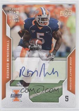 2008 Upper Deck Draft Edition Exclusives Autograph [Autographed] #84 - Rashard Mendenhall