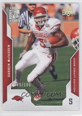 2008 Upper Deck Draft Edition Silver Exclusives #22 - Darren McFadden /100