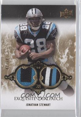 2008 Upper Deck Exquisite Collection - Dual Patch #EP-37 - Jonathan Stewart /50
