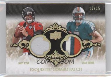 2008 Upper Deck Exquisite Collection Combo Patch Spectrum Gold #ECP-10 - Matt Ryan, Chad Henne /15