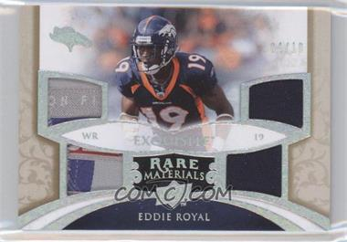 2008 Upper Deck Exquisite Collection Rare Materials 4 Patches/Tags #ERM-ER - Eddie Royal /10