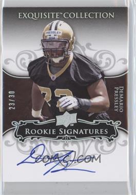2008 Upper Deck Exquisite Collection Rookie Spectrum Silver #113 - DeMario Pressley /30