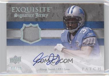 2008 Upper Deck Exquisite Collection Signature Jersey Patch #ESS-KS - Kevin Smith /10