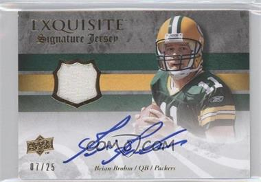 2008 Upper Deck Exquisite Collection Signature Jerseys #ESS-BB - Brian Brohm /25