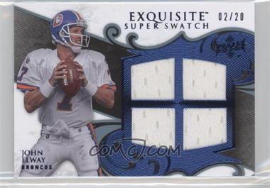 2008 Upper Deck Exquisite Collection Super Swatch Blue #SS-JE - John Elway /20