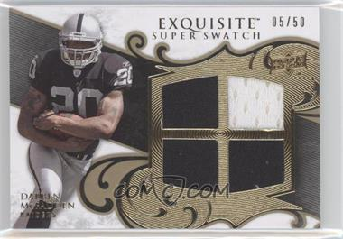 2008 Upper Deck Exquisite Collection Super Swatch #SS-DM - Darren McFadden /50