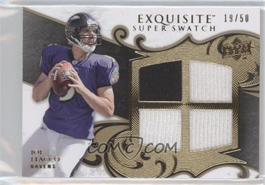 2008 Upper Deck Exquisite Collection Super Swatch #SS-JF - Joe Flacco /50