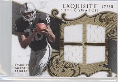 2008 Upper Deck Exquisite Collection Super Swatch #SS-MC - Darren McFadden /50