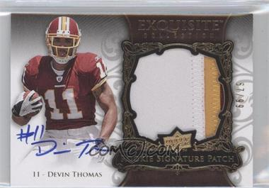 2008 Upper Deck Exquisite Collection #176 - Devin Thomas /99