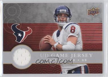 2008 Upper Deck First Edition UD Game Jersey #FGJ-MS - Matt Schaub