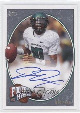2008 Upper Deck Football Heroes - [Base] - Blue Autographs [Autographed] #133 - Dennis Dixon /250