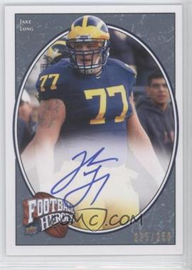 2008 Upper Deck Football Heroes - [Base] - Blue Autographs [Autographed] #152 - Jake Long /250
