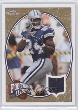 2008 Upper Deck Football Heroes - [Base] - Gold Jerseys [Memorabilia] #64 - Marion Barber III /35