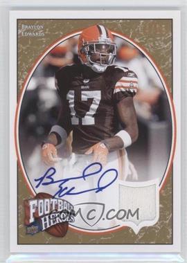 2008 Upper Deck Football Heroes - [Base] - Jersey Autographs [Autographed] [Memorabilia] #11 - Braylon Edwards /15