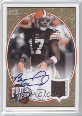 2008 Upper Deck Football Heroes Jersey Autographs [Autographed] [Memorabilia] #11 - Braylon Edwards /15