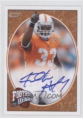 2008 Upper Deck Football Heroes Red Autographs [Autographed] #161 - Jonathan Hefney /50
