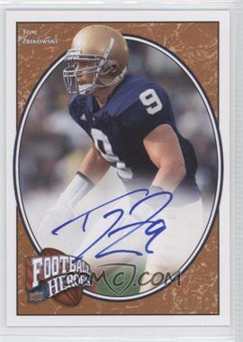 2008 Upper Deck Football Heroes Red Autographs [Autographed] #197 - Tom Zbikowski /50