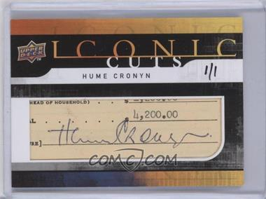 2008 Upper Deck Iconic Cuts #UD-IC - Hume Cronyn /1