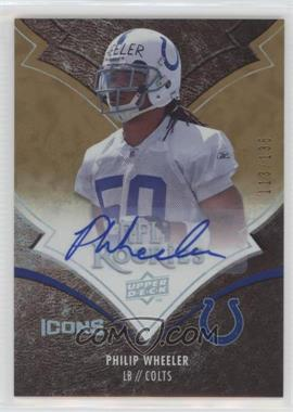 2008 Upper Deck Icons Rookie Autographs Rainbow [Autographed] #178 - Philip Wheeler /135
