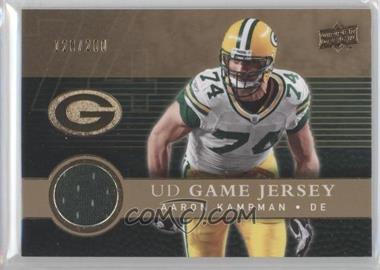 2008 Upper Deck UD Game Jersey Gold #UDGJ-AK - Aaron Kampman /200