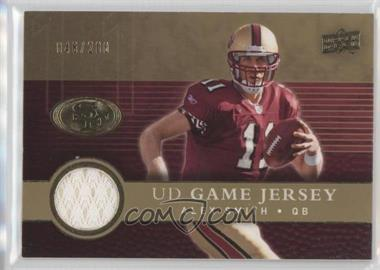 2008 Upper Deck UD Game Jersey Gold #UDGJ-AS - Alex Smith /200