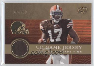 2008 Upper Deck UD Game Jersey Gold #UDGJ-BE - Braylon Edwards /200