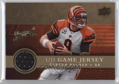 2008 Upper Deck UD Game Jersey Gold #UDGJ-CP - Carson Palmer /200