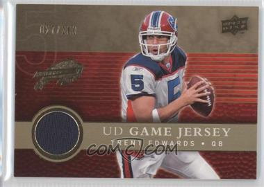 2008 Upper Deck UD Game Jersey Gold #UDGJ-TE - Trent Edwards /200