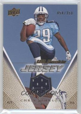 2008 Upper Deck UD Rookie Jersey Gold #UDRJ-CJ - Chris Johnson /350