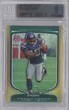 2009 Bowman Chrome - [Base] - Gold Refractor #138 - Percy Harvin /50 [BGS 9]