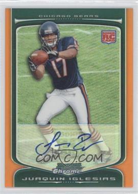 2009 Bowman Chrome - [Base] - Rookie Autographs Orange Refractor [Autographed] #133 - Juaquin Iglesias /15