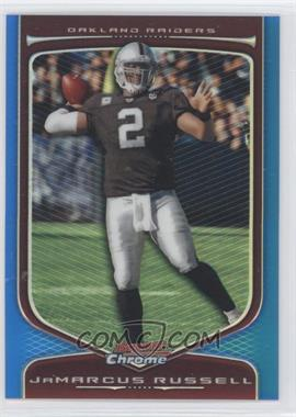 2009 Bowman Chrome Blue Refractor #22 - JaMarcus Russell /150