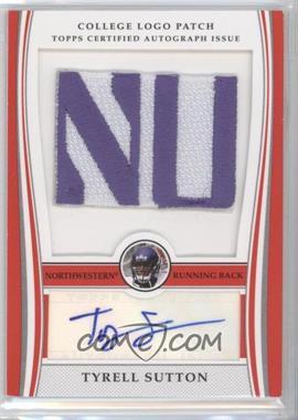 2009 Bowman Draft Picks - College Logo Patch #ALP-TS - Tyrell Sutton /250