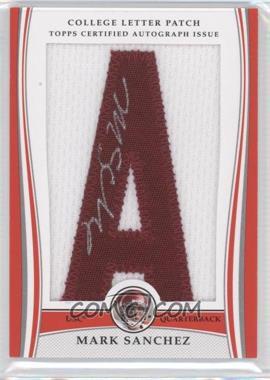 2009 Bowman Draft Picks College Letter Patch #LAP-MS - Mark Sanchez /8