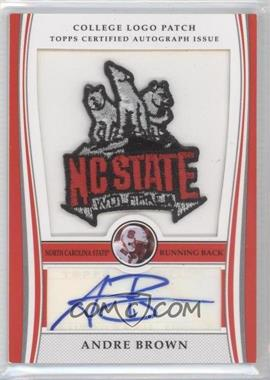 2009 Bowman Draft Picks College Logo Patch Mascot Variation #ALP-AB - Andre Brown /300