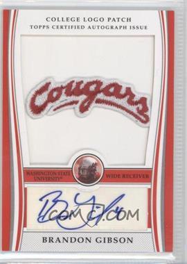 2009 Bowman Draft Picks College Logo Patch #ALP-BG - Brandon Gibson /300