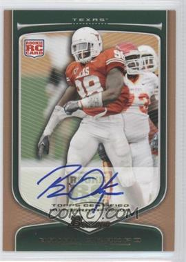 2009 Bowman Draft Picks Rookie Autographs Bronze [Autographed] #112 - Brian Orakpo /99