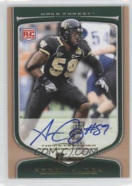 2009 Bowman Draft Picks Rookie Autographs Bronze [Autographed] #117 - Aaron Curry /99