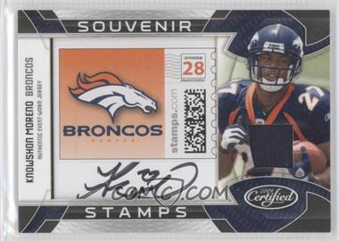 2009 Certified Souvenir Stamps Pro Team Materials Signatures [Autographed] #23 - Knowshon Moreno /20