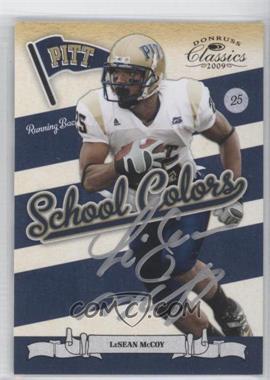 2009 Donruss Classics - School Colors - Signatures [Autographed] #26 - LeSean McCoy
