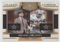 Tom Landry, Tony Dorsett /25