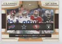 Michael Irvin, Andre Reed, Jerry Rice, Tim Brown /100