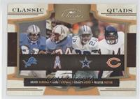 Earl Campbell, Barry Sanders, Emmitt Smith, Walter Payton /100