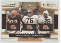 Jim Brown, Marion Motley, Lou Groza /100