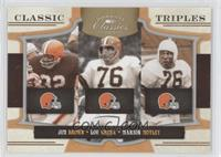 Jim Brown, Lou Groza, Marion Motley /250