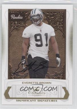2009 Donruss Classics Significant Signatures Gold [Autographed] #187 - Everette Brown /250
